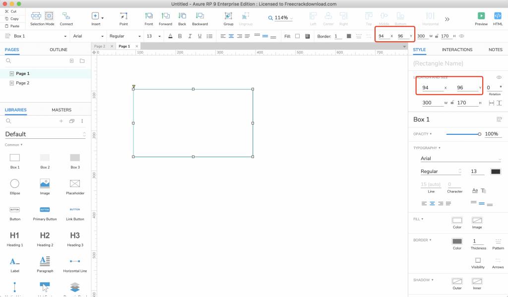 【Axure9基础教程】基础样式之元件位置调整
